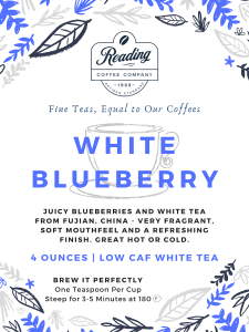 White Blueberry Loose Leaf Tea - 2 oz.