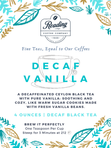 Decaf Vanilla Loose Leaf Tea - 4 oz.