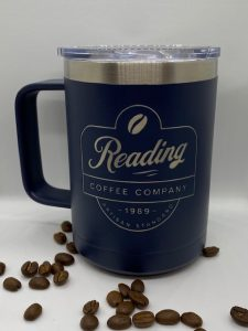 Reading Coffee Kodiak Navy Blue Mug