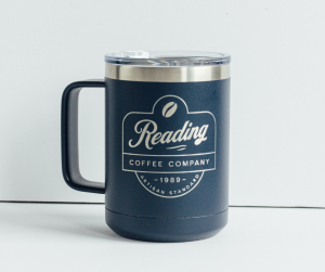 Reading Coffee Kodiak Navy Blue Travel Mug