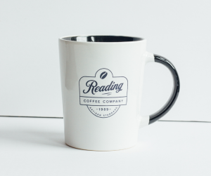 Reading Coffee Mug Two-Tone with Black - 14 ounce