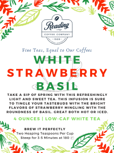 White Strawberry Basil Loose Leaf Tea - 4 oz.