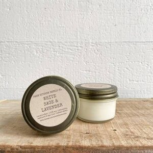 White Sage and Lavender Soy Candle Mini