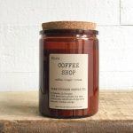 Coffee Shop Soy Candle in Amber Glass