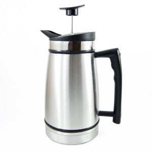 French Press with Bru Stop - Stainless Brushed Steel 48 fl oz