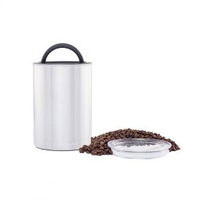 Airscape Classic Brushed Steel Coffee Storage Canister - 7 in