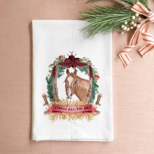 Jingle all the Hay Christmas Tea Towel