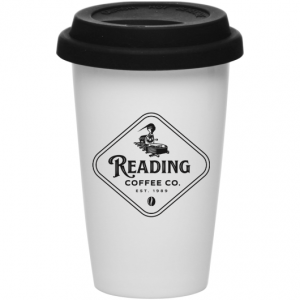 Reading Coffee 11 oz. Tall Double-Walled Tumbler Mug