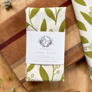 Green Leaves Tea Towel